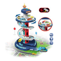Track Garage City Slot Toys Multi Layer Kids Parking Lot Set