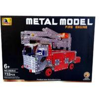 Educational Building Toys Fire Truck Construction Set 3D Stainless Steel Model Kit DIY Gift For Kids