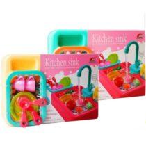 Kitchen Sink Children Kitchen Dish Washing Sink Toy Electric Water Circulation Toy For Kids